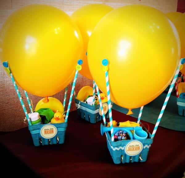 Balão criativo para mesa de aniversário de criança