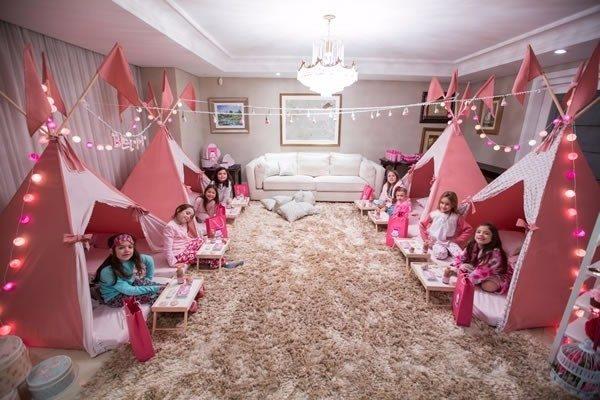 festa do pijama decoração