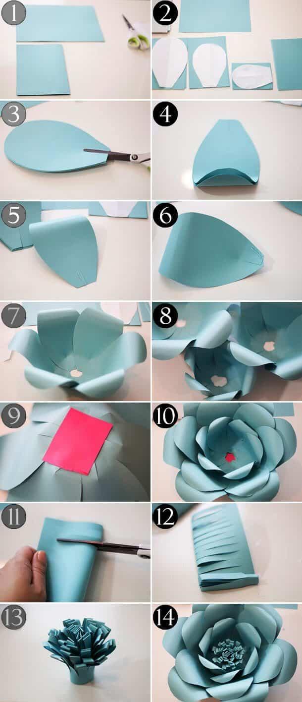 Faça o miolo dobrando folhas de papel f998f86e689