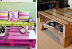 mesas de paletes criativas