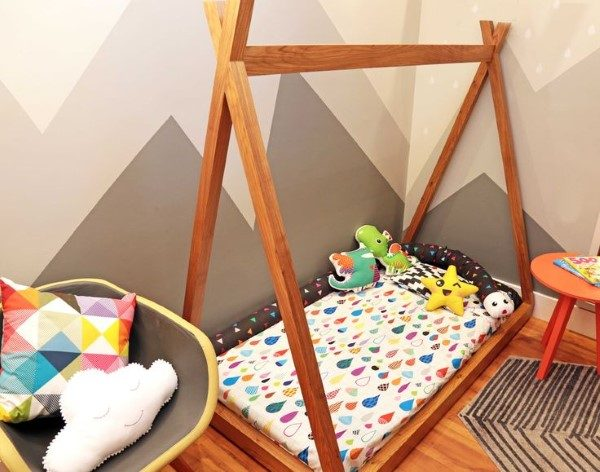 mini cama infantil montessoriano