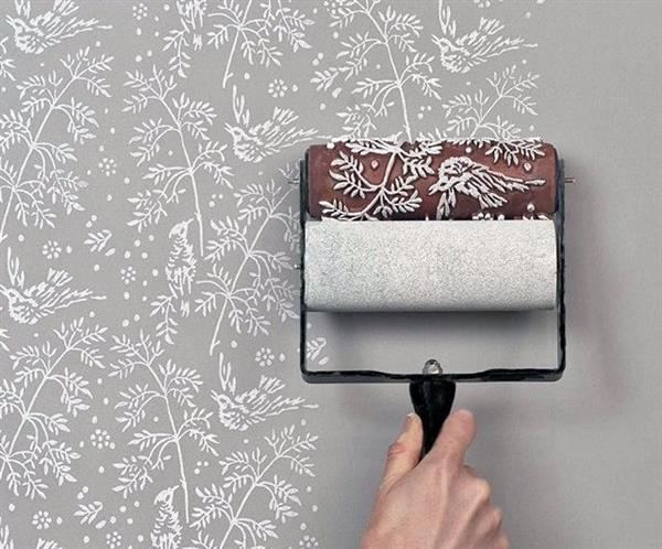 Textura projetada com rolo