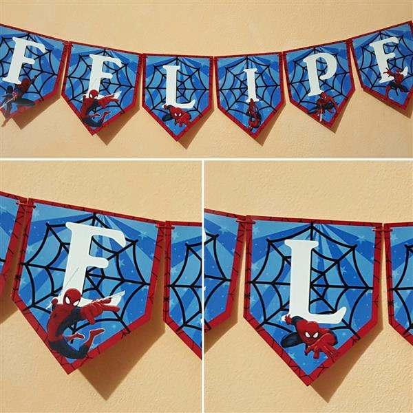 Bandeirolas do Homem Aranha