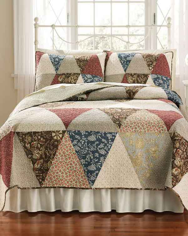 Colcha de casal de patchwork