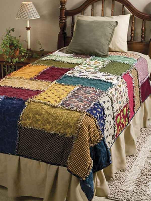 Colcha de retalhos colorida para cama de solteiro