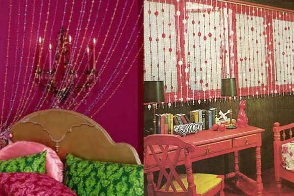 Cortina de miçangas decoração quarto