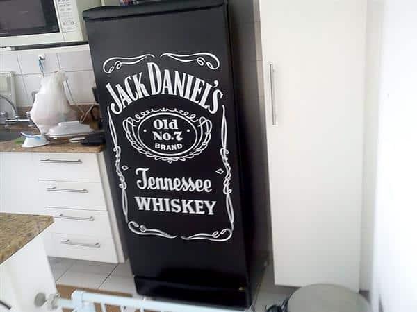 Geladeira Adesivada Jack Daniel's
