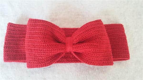 Laço de Crochê Vermelho