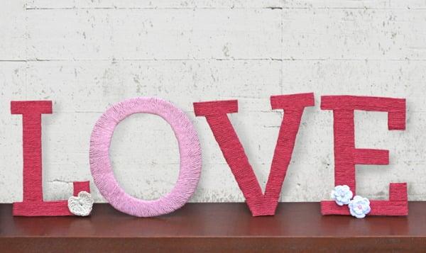 letras-love de papelão