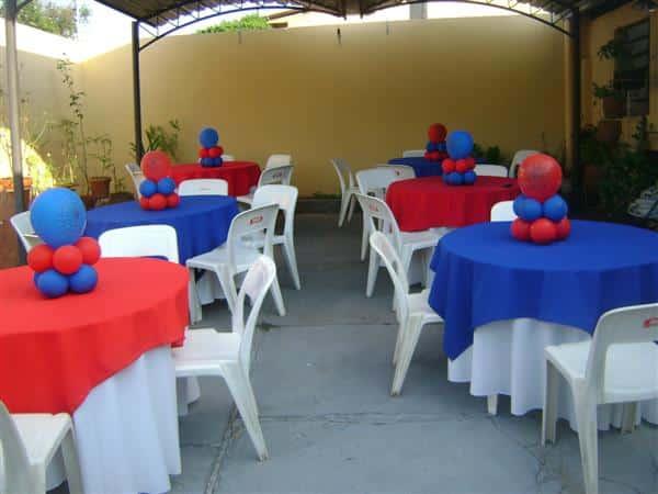 Mesa de Convidados Homem Aranha