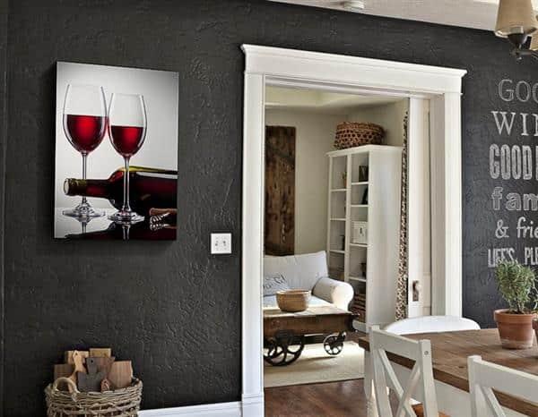 Quadro Decorativo Vinhos
