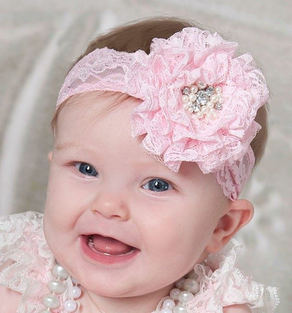 Tiara Rosa para Bebê