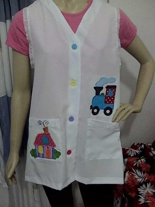 Molde de avental de professora personalizado