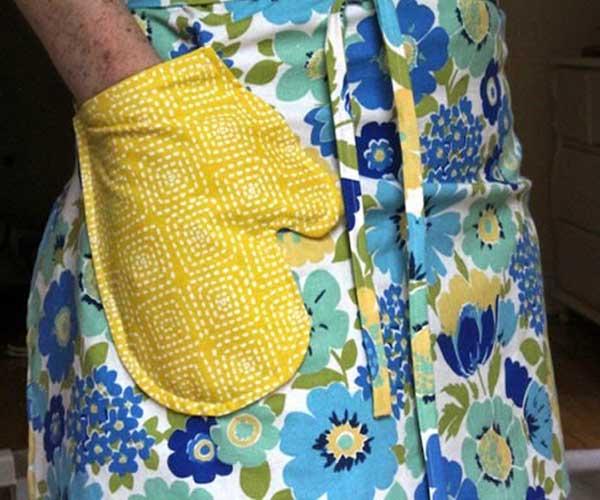 Avental de tecido