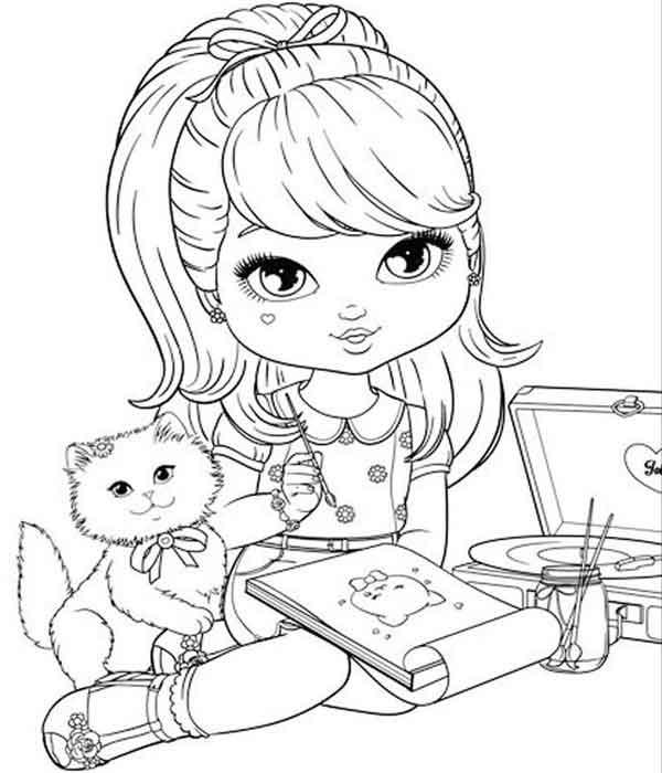 Boneca Para Colorir E Imprimir Desenhos Artesanato Passo A Passo