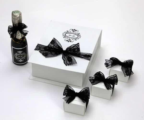 Caixas de papelão personalizadas para casamento