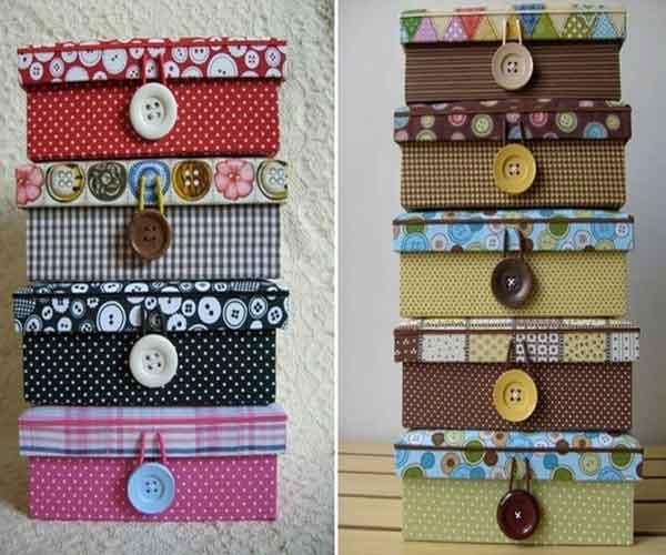 Caixas de papelão personalizadas costura