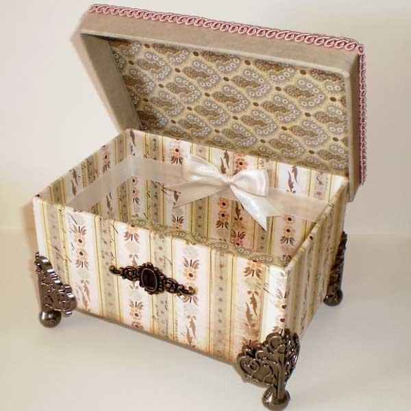 Caixas de papelão personalizadas provençal
