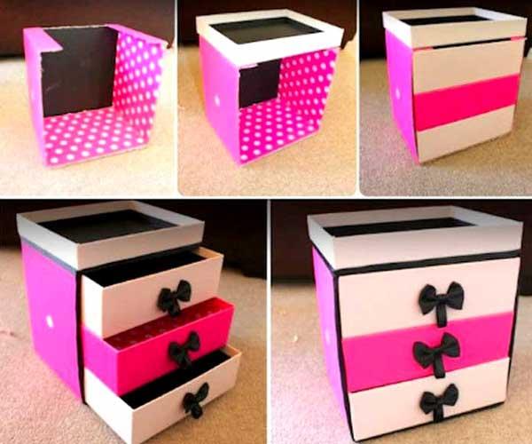 Caixas de papelão personalizadas rosa