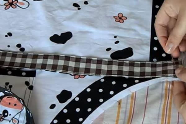 Molde de avental alças laterais