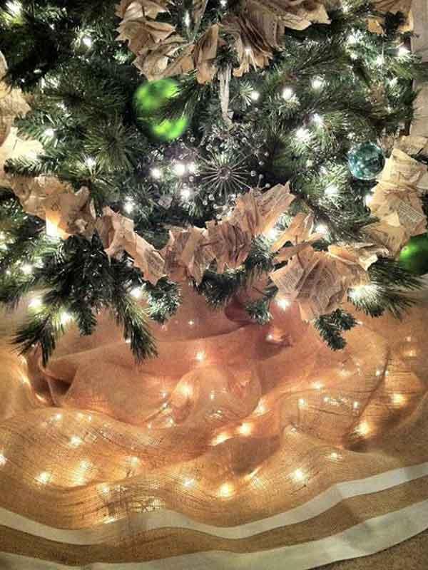 Saia árvore natal rústica