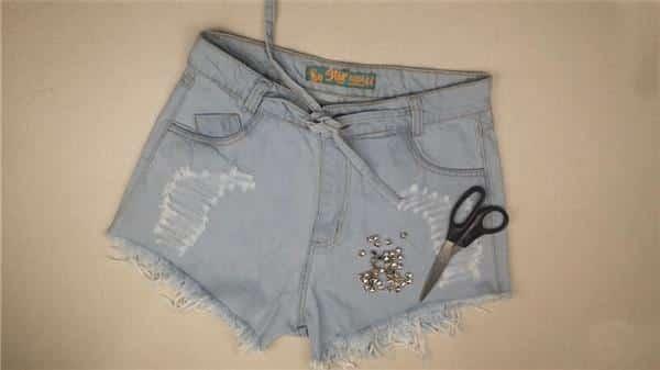 materiais para confecção de short jeans personalizado