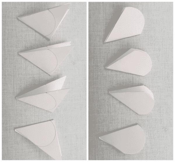flores de papel papéis cortados antes e depois