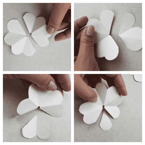 flores de papel corte pétalas