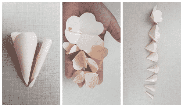 flores de papel cortadas
