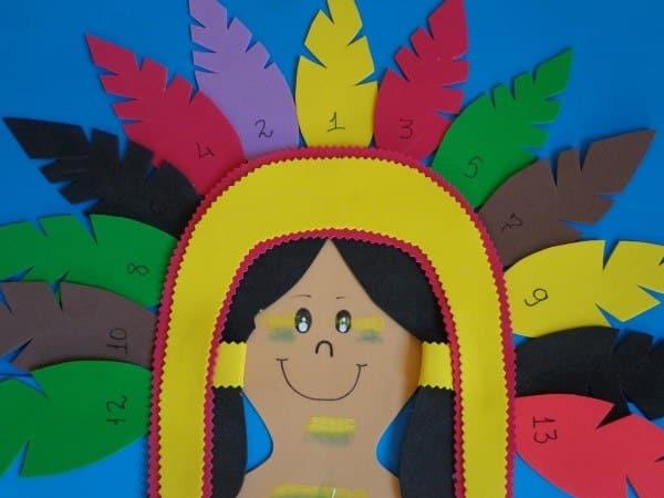 artesanato indígena com eva