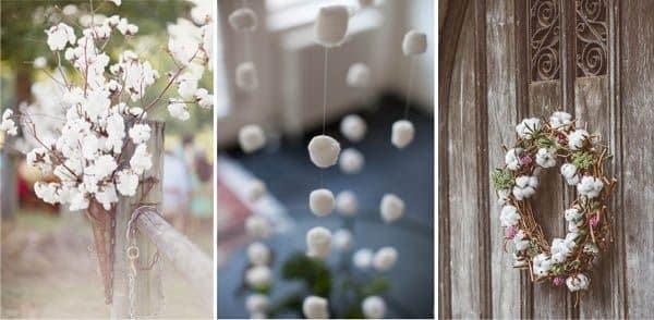 bodas de algodão decoração