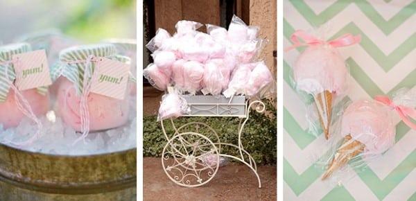 bodas de algodão doce