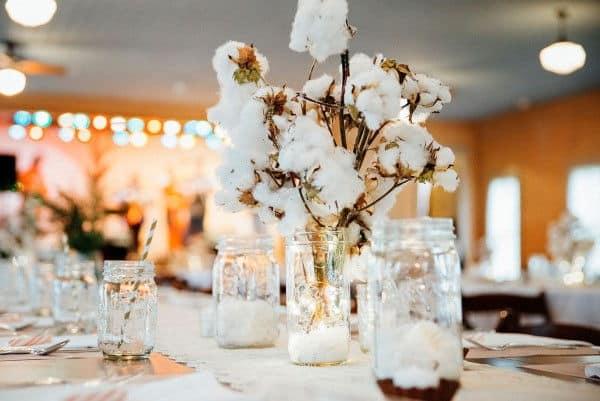 centro de mesa bodas de algodão