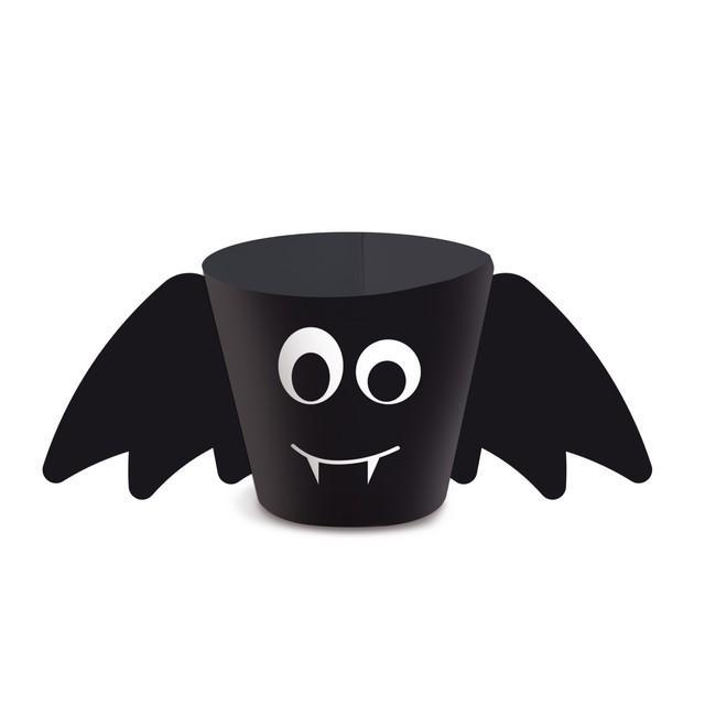 copinho de decoração morcego