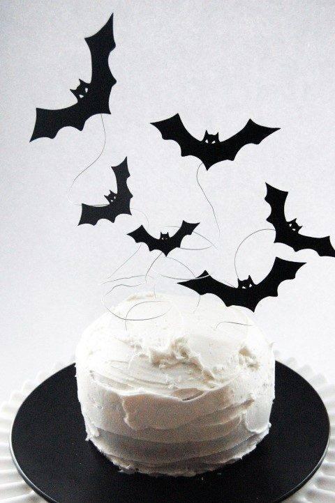 decoração para bolo morcego