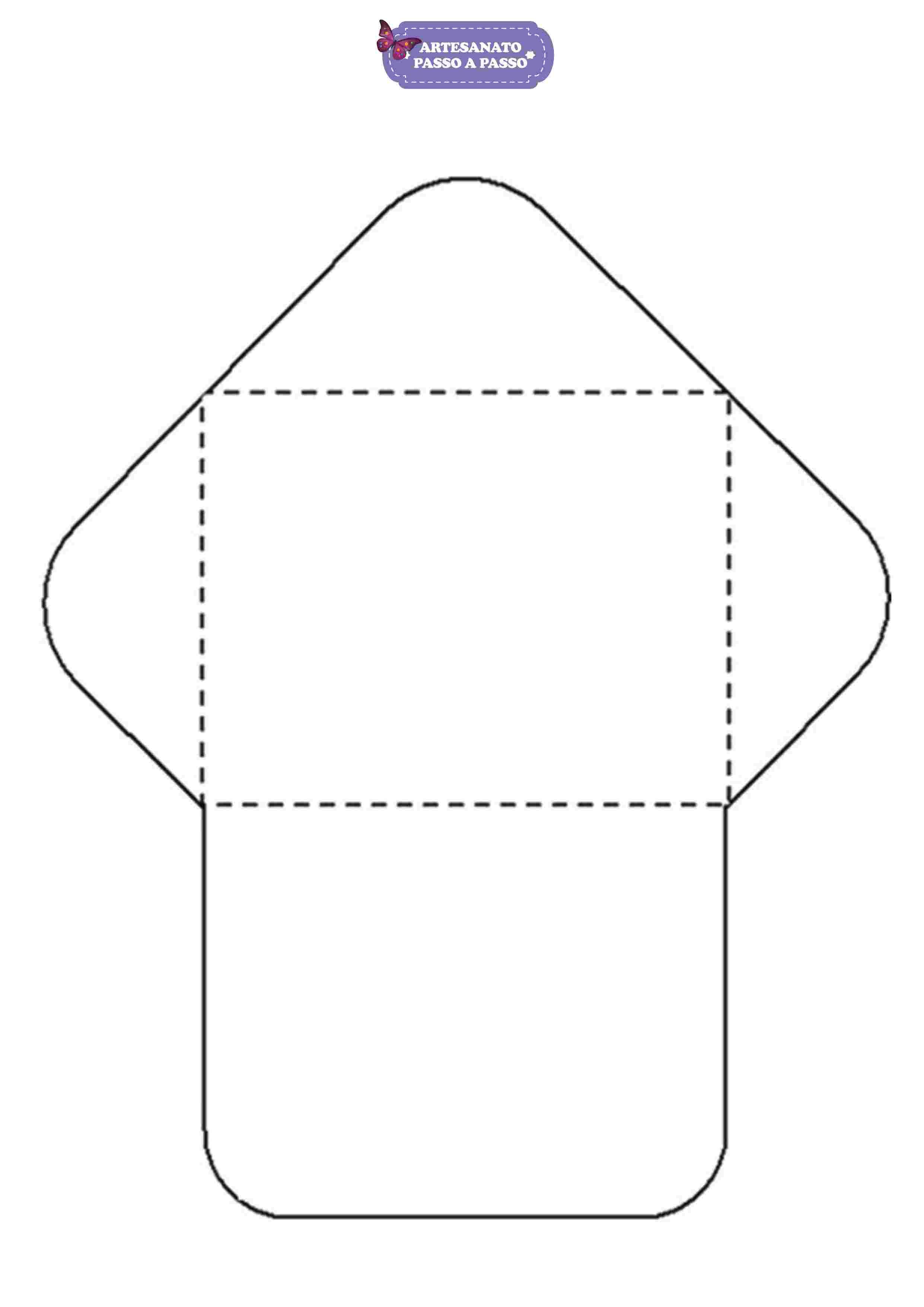 Molde De Envelope Para Imprimir Modelos Artesanato Passo A Passo