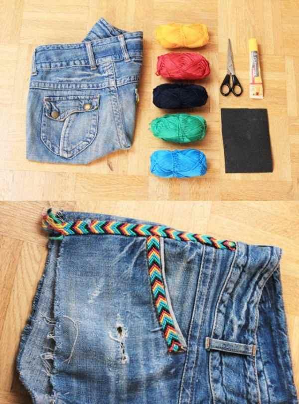 ideias de short customizado - pulseira