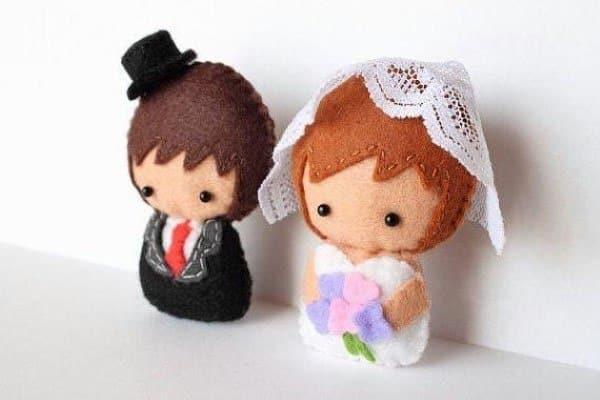 lembrancinha de feltro casamento