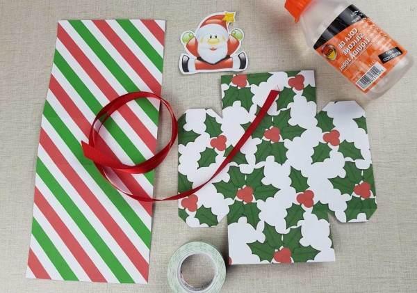 materiais para caixa natalina