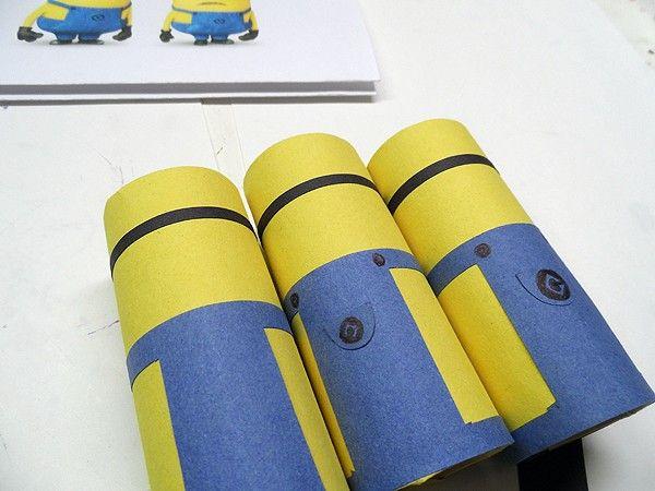 minions papel higienico passo a passo