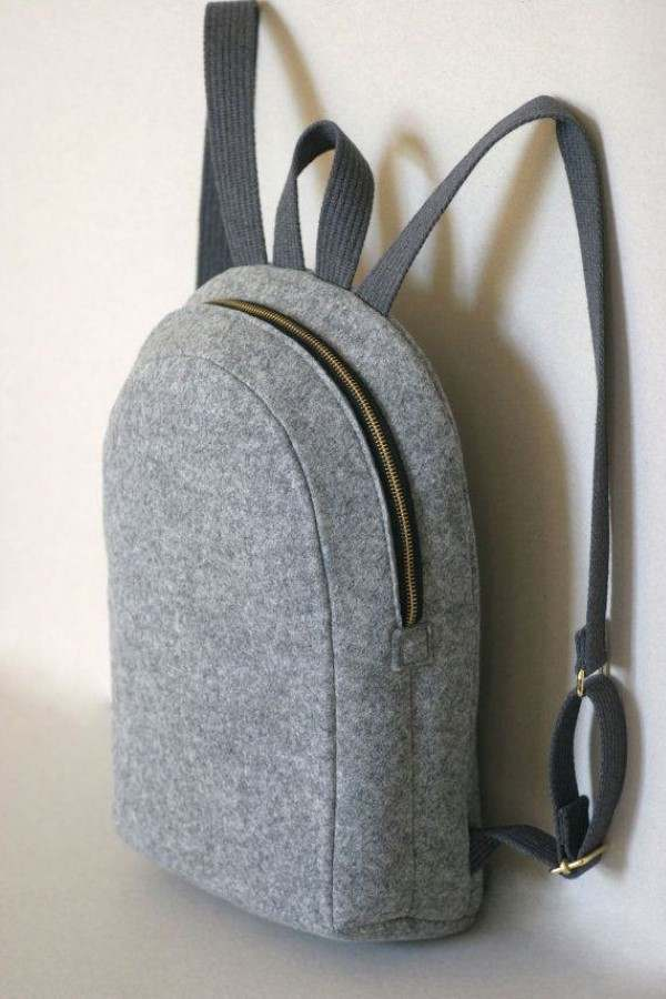 mochila de feltro
