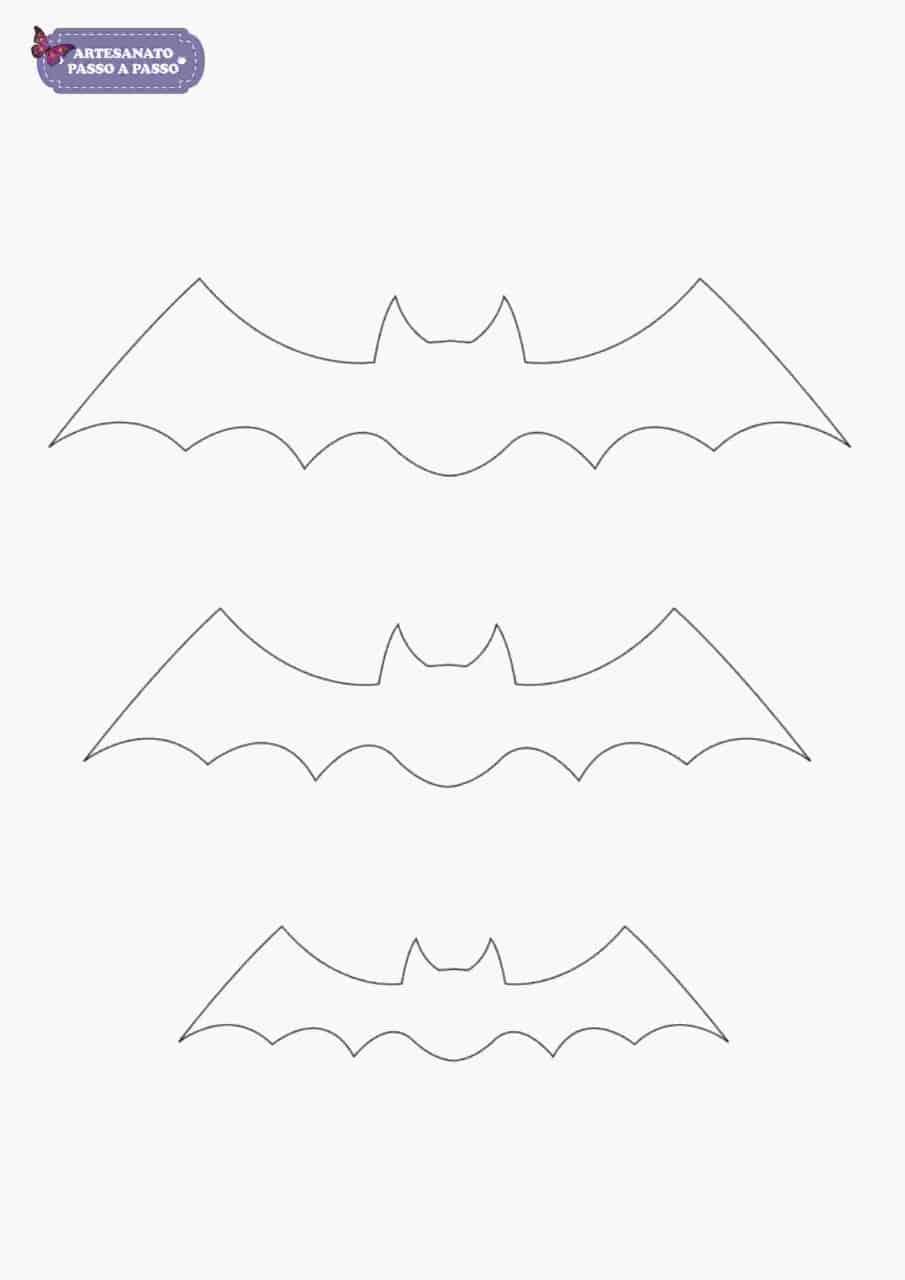 molde de morcego para imprimir artesanato passo a passo