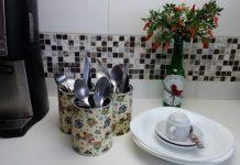 organizadores de cozinha de material reciclado