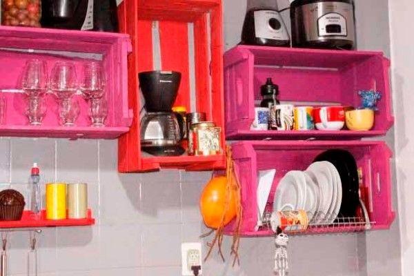 Organizador de pratos com caixotes