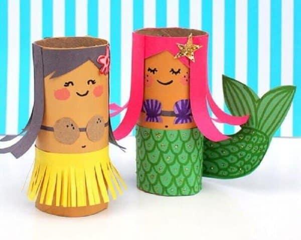 sereia e hula hula papel higiênico
