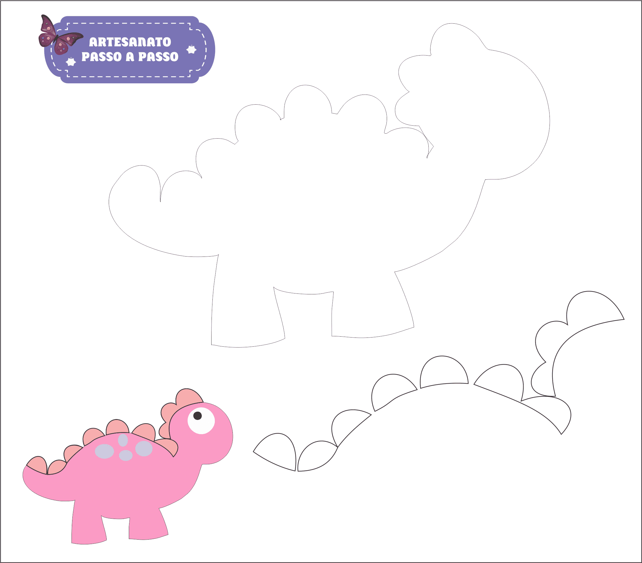 molde dinossauro 4