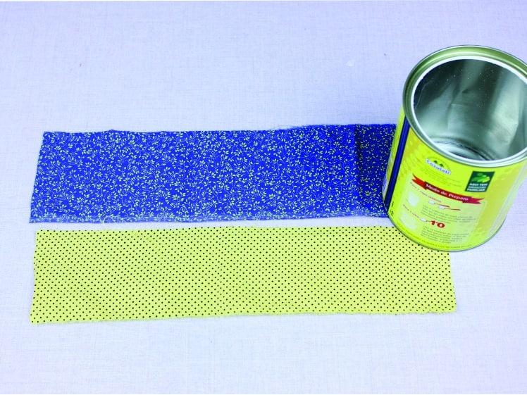 Artesanato com lata decorada com Tecido 3