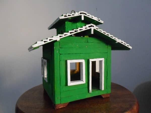 casa com palitinhos de picolé