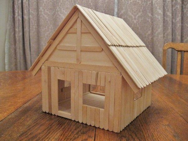 casa de palito de picolé crafty