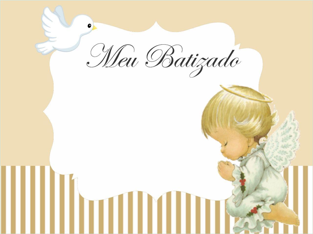 convite anjinho batizado